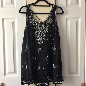 Free People Black Starry Night Slip - Size XS